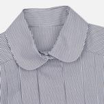 Женское платье Maison Kitsune Oxford Thin Stripes Pleated Black Stripes фото- 1