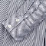 Женское платье Maison Kitsune Oxford Thin Stripes Pleated Black Stripes фото- 2