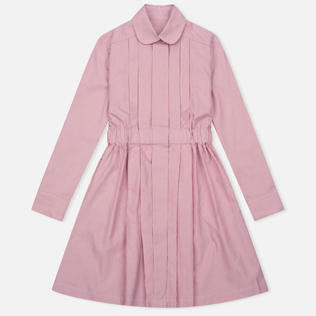 Женское платье Maison Kitsune Oxford Thin Stripes Pleated Red Stripes