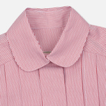 Женское платье Maison Kitsune Oxford Thin Stripes Pleated Red Stripes фото- 1
