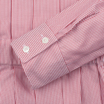 Женское платье Maison Kitsune Oxford Thin Stripes Pleated Red Stripes фото- 2