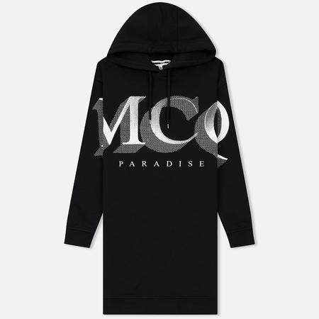 Женское платье McQ Alexander McQueen Boyfriend Hoodie MCQ Paradise Big Darkest Black
