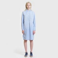 Женское платье Polo Ralph Lauren Chigo LS Sunfade Stripe Blue/White фото- 1