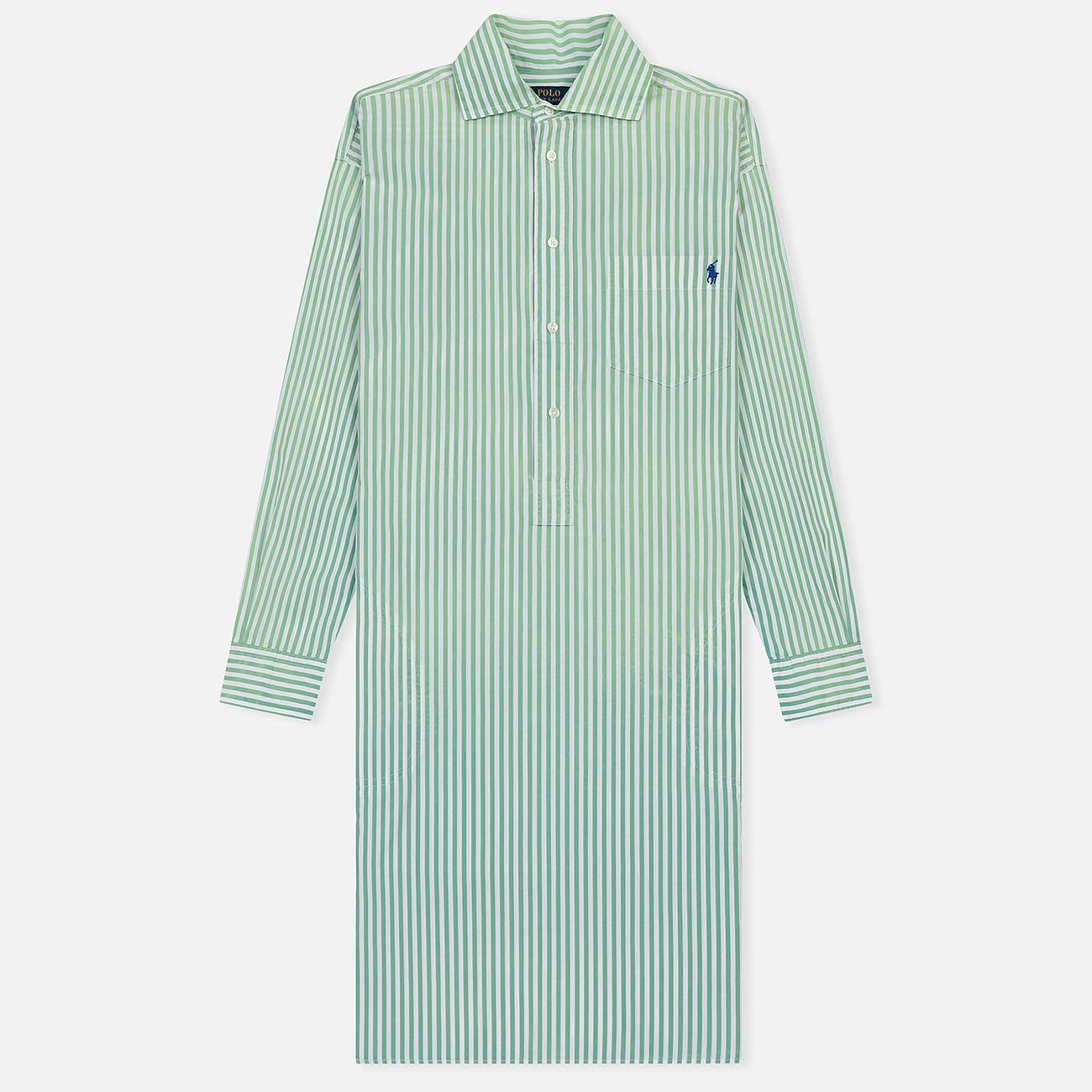 Женское платье Polo Ralph Lauren Chigo LS Sunfade Stripe Seafoam Green/White