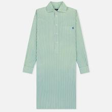Женское платье Polo Ralph Lauren Chigo LS Sunfade Stripe Seafoam Green/White фото- 0
