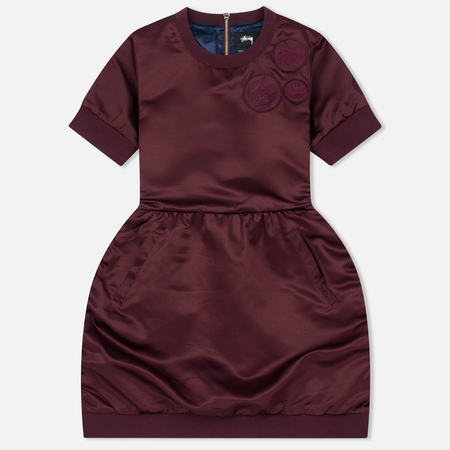 Женское платье Stussy Action Flight Burgundy