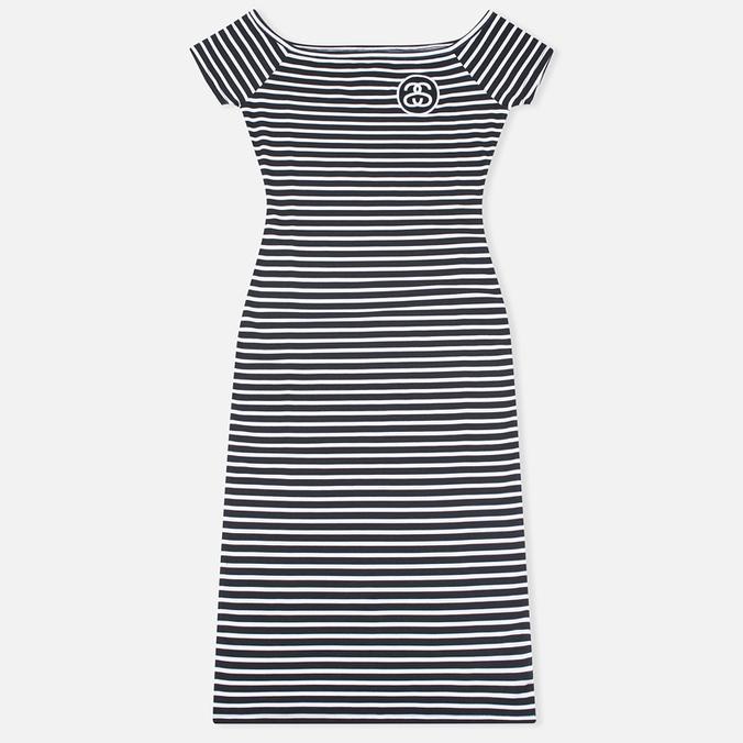 Женское платье Stussy SS Stripe Bodycon Black