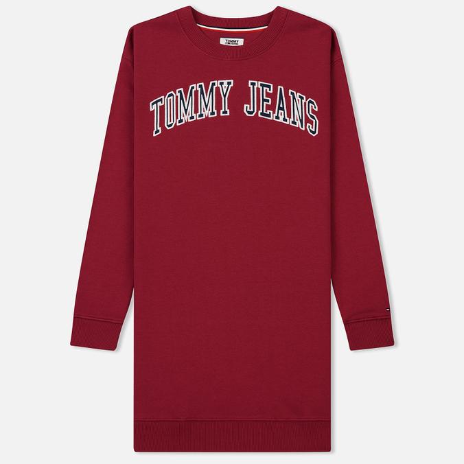 Женское платье Tommy Jeans Logo Sweat Rumba Red