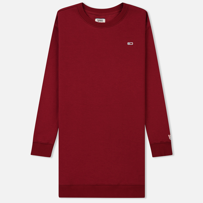 c885668ce442 Женское платье Tommy Jeans Tommy Classic Sweat Rumba Red DW0DW04470610