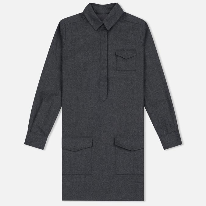 Женское платье YMC Wool Shirt Grey Marl