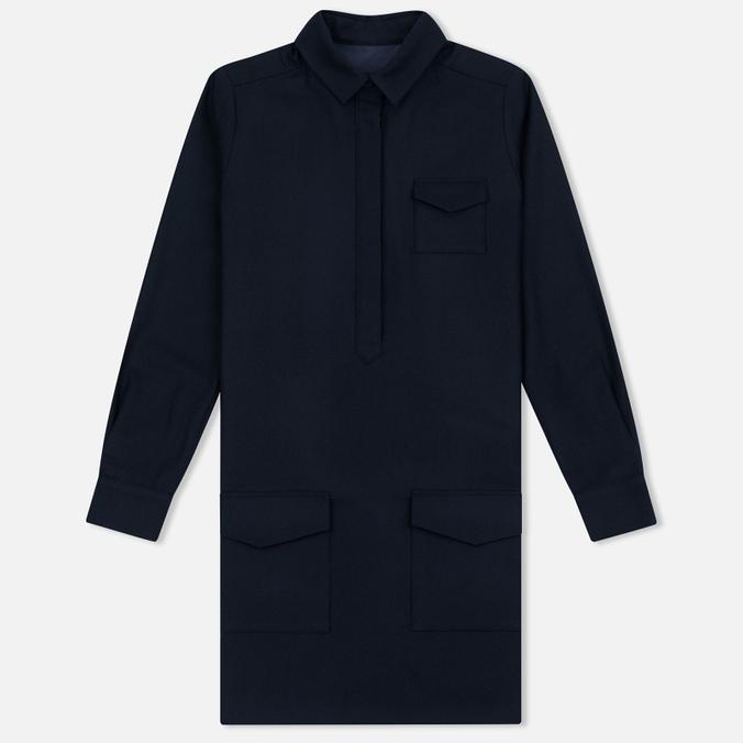 Женское платье YMC Wool Shirt Navy