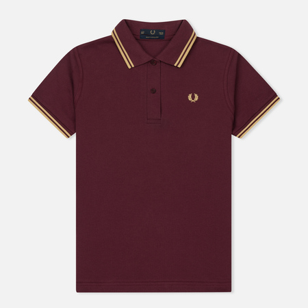 Женское поло Fred Perry G12 Aubergine/Champagne/Champagne