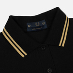 Женское поло Fred Perry G12 Black/Champagne/Champagne фото- 1