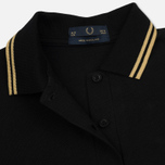 Женское поло Fred Perry G12 Black/Champagne/Champagne фото- 2