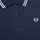 Fred Perry G12 Women's Polo Navy/Ice photo- 2