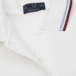 Женское поло Fred Perry G12 White/Ice/Maroon фото- 2