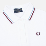 Женское поло Fred Perry G12 White/Ice/Maroon фото- 1