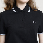 Женское поло Fred Perry G3600 Black/White/White фото- 7