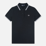 Fred Perry G3600 Women's Polo Black/White/White photo- 0