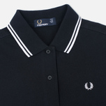 Fred Perry G3600 Women's Polo Black/White/White photo- 1