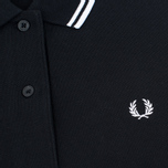 Женское поло Fred Perry G3600 Black/White/White фото- 2