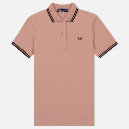 Женское поло Fred Perry G3600 Grey Pink/Black