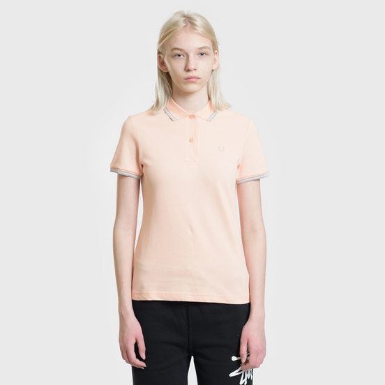 Женское поло Fred Perry G3600 Iced Coral/Silver/Silver