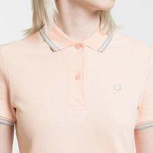 Женское поло Fred Perry G3600 Iced Coral/Silver/Silver фото- 2