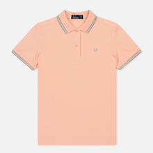 Женское поло Fred Perry G3600 Iced Coral/Silver/Silver фото- 0