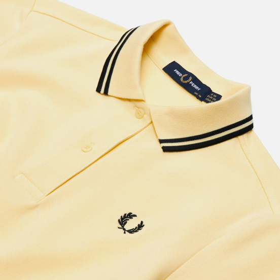 Женское поло Fred Perry G3600 Iced Yellow/Black/Black