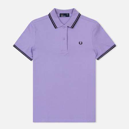 Женское поло Fred Perry G3600 Lilac/Black/Black