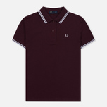 Женское поло Fred Perry G3600 Mahogany/White/White фото- 0