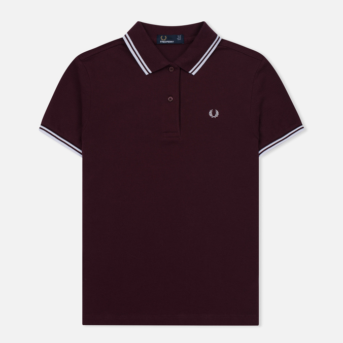 Женское поло Fred Perry G3600 Mahogany/White/White