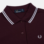Женское поло Fred Perry G3600 Mahogany/White/White фото- 1