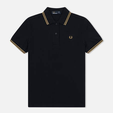 Женское поло Fred Perry G3600 Navy/Gold/Gold