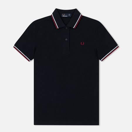 Женское поло Fred Perry G3600 Navy/White/Claret