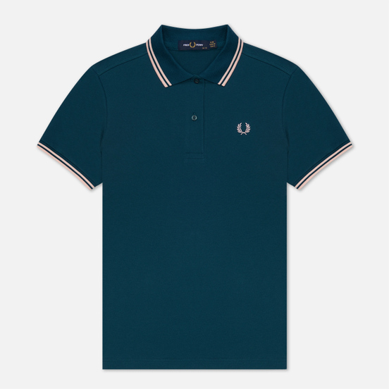 Женское поло Fred Perry G3600 Petrol Dreams/Iced Pink/Iced Pink