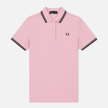 Женское поло Fred Perry G3600 Pink/Black/Black