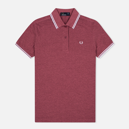 Женское поло Fred Perry G3600 Strawberry Oxford/White/White