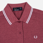 Женское поло Fred Perry G3600 Strawberry Oxford/White/White фото- 1