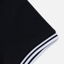Женское поло Fred Perry G3600 Twin Tipped Pique Black/White/White фото- 3