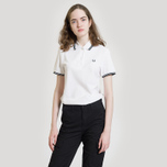 Женское поло Fred Perry G3600 Twin Tipped White/Black фото- 5