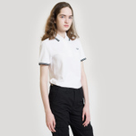 Женское поло Fred Perry G3600 Twin Tipped White/Black фото- 6