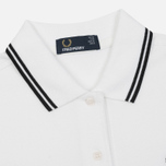 Женское поло Fred Perry G3600 Twin Tipped White/Black фото- 1