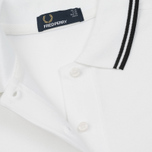 Женское поло Fred Perry G3600 Twin Tipped White/Black фото- 2