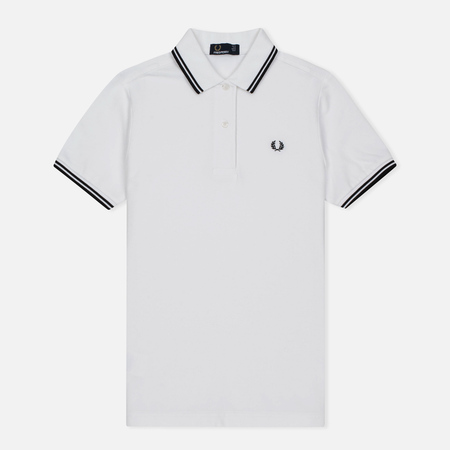 Женское поло Fred Perry G3600 Twin Tipped White/Black/Black