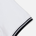 Женское поло Fred Perry G3600 Twin Tipped White/Black фото- 3