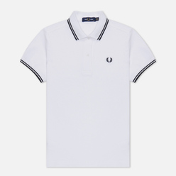 Женское поло Fred Perry G3600 White/Black