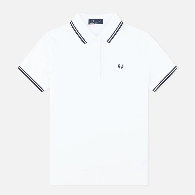 Женское поло Fred Perry G3600 White/Black/Black