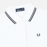 Женское поло Fred Perry G3600 White/Black/Black фото- 1
